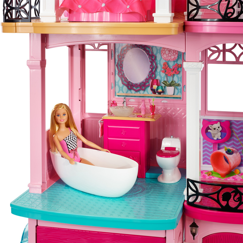 Mattel Barbie Dream House Doll 3 Story Furniture Girls