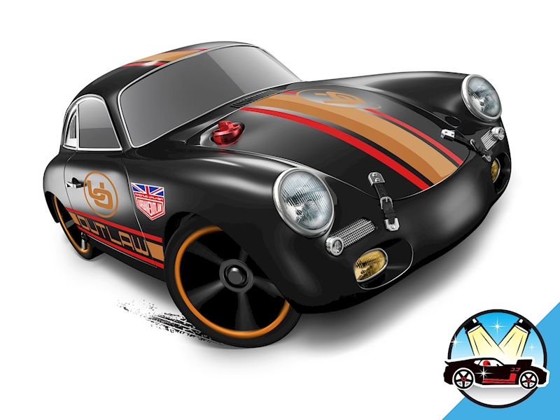 porsche 356a outlaw shop hot wheels cars trucks race tracks hot wheels. Black Bedroom Furniture Sets. Home Design Ideas