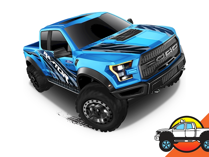 2017 Ford F150 Raptor Shop Hot Wheels Cars Trucks Race Tracks