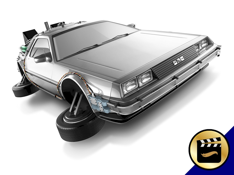 Back to the Future Time Machine - Hover Mode - Shop Hot Wheels ...