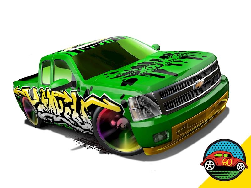 Chevy Silverado Hot Wheels Cars Trucks Race Tracks