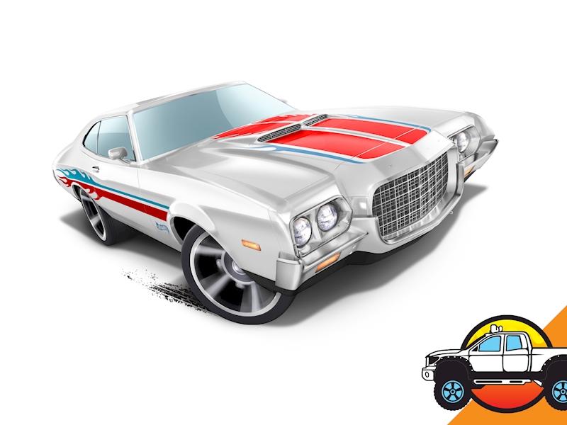 72 Ford Gran Torino Sport - Shop Hot Wheels Cars, Trucks & Race ...