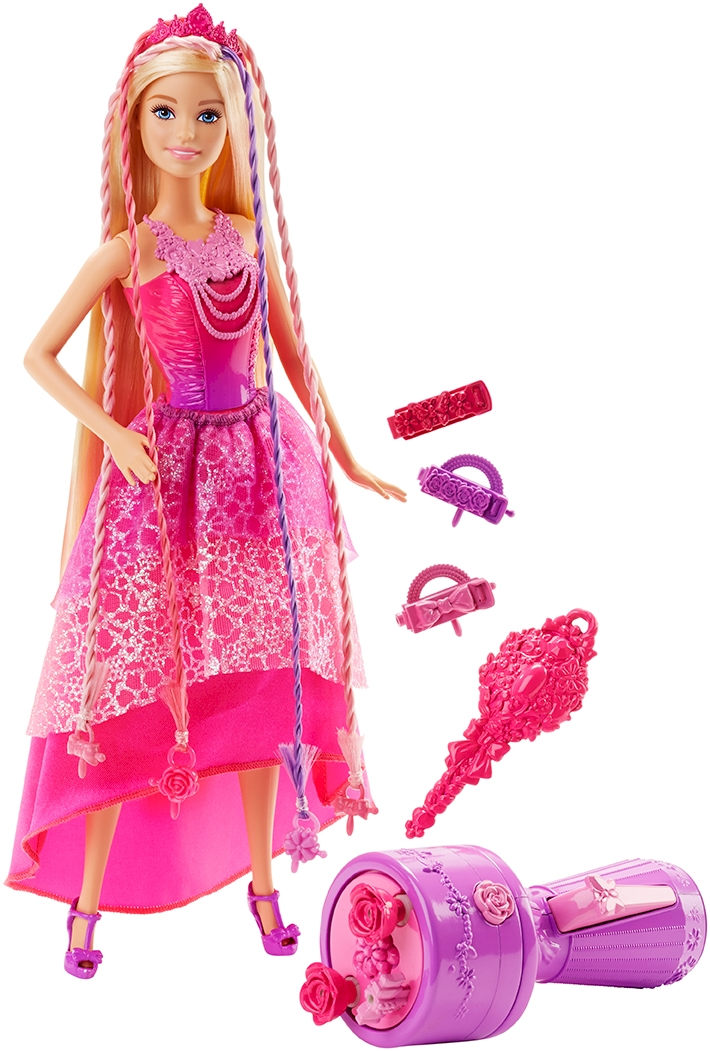 Juegos de peinar trenzas a barbie