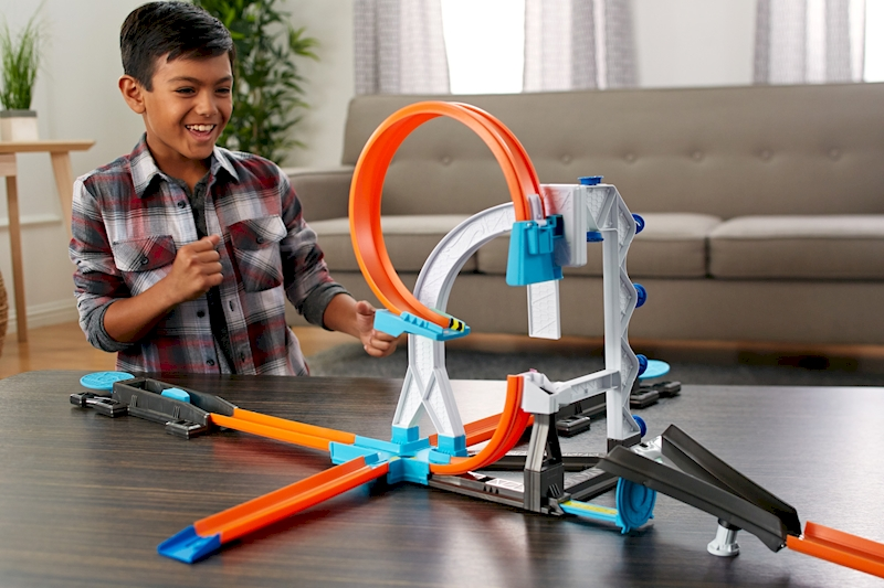 Hot Wheels Track Builder System Stunt Kit Playset Shop Hot