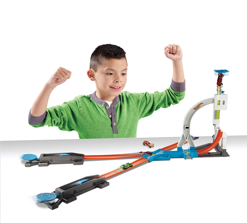 Hot Wheels Track Builder System Stunt Kit Playset Shop Hot