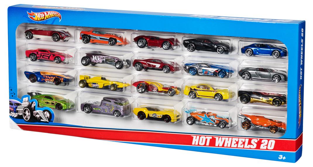 hot wheels coffret de 20 v hicules shop hot wheels cars trucks race tracks hot wheels. Black Bedroom Furniture Sets. Home Design Ideas