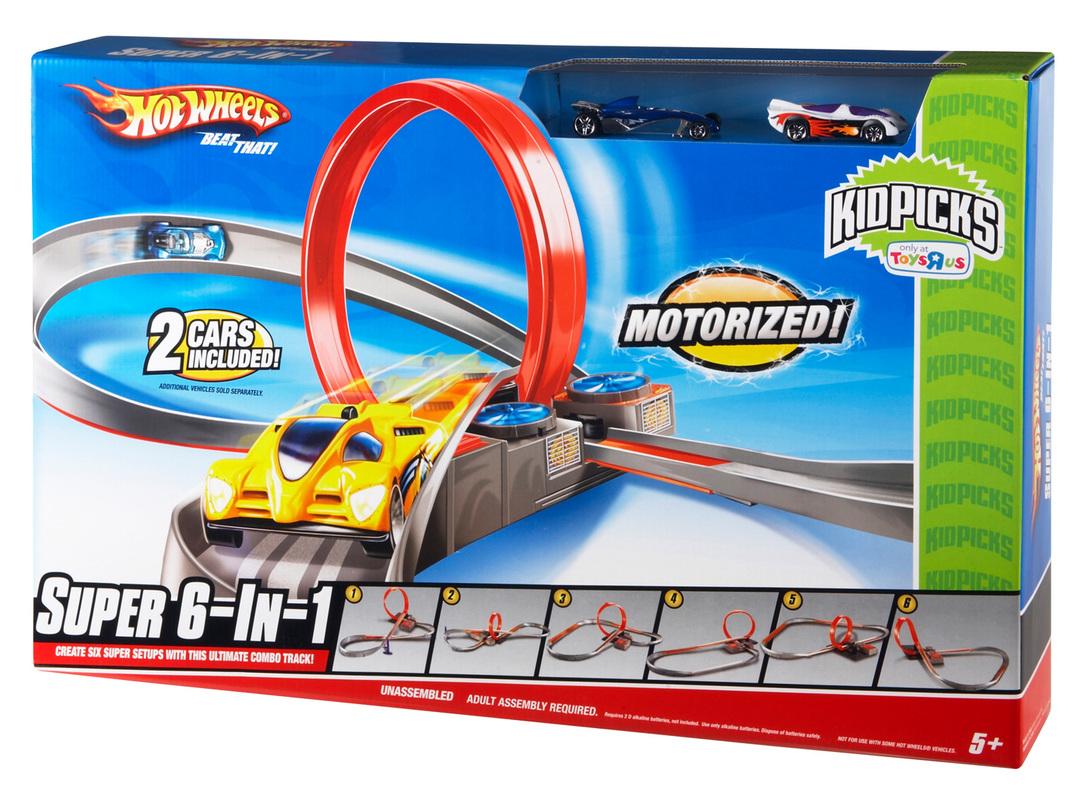 7930b5f6bd98d Hot Wheels Super 6-In-1 Track- Shop Hot Wheels Cars