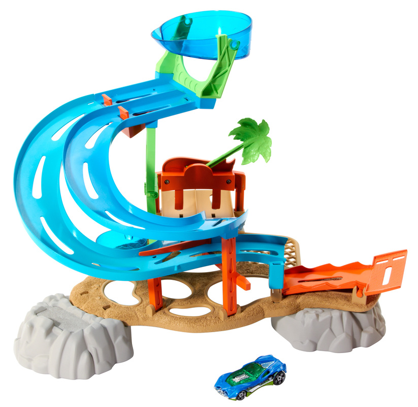 hot wheels race rally water park play set shop hot wheels cars trucks race tracks hot. Black Bedroom Furniture Sets. Home Design Ideas