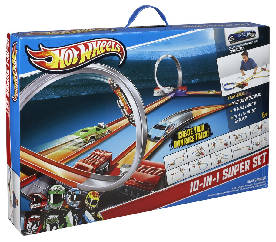 hot wheels 10 in 1 track set shop hot wheels cars trucks. Black Bedroom Furniture Sets. Home Design Ideas