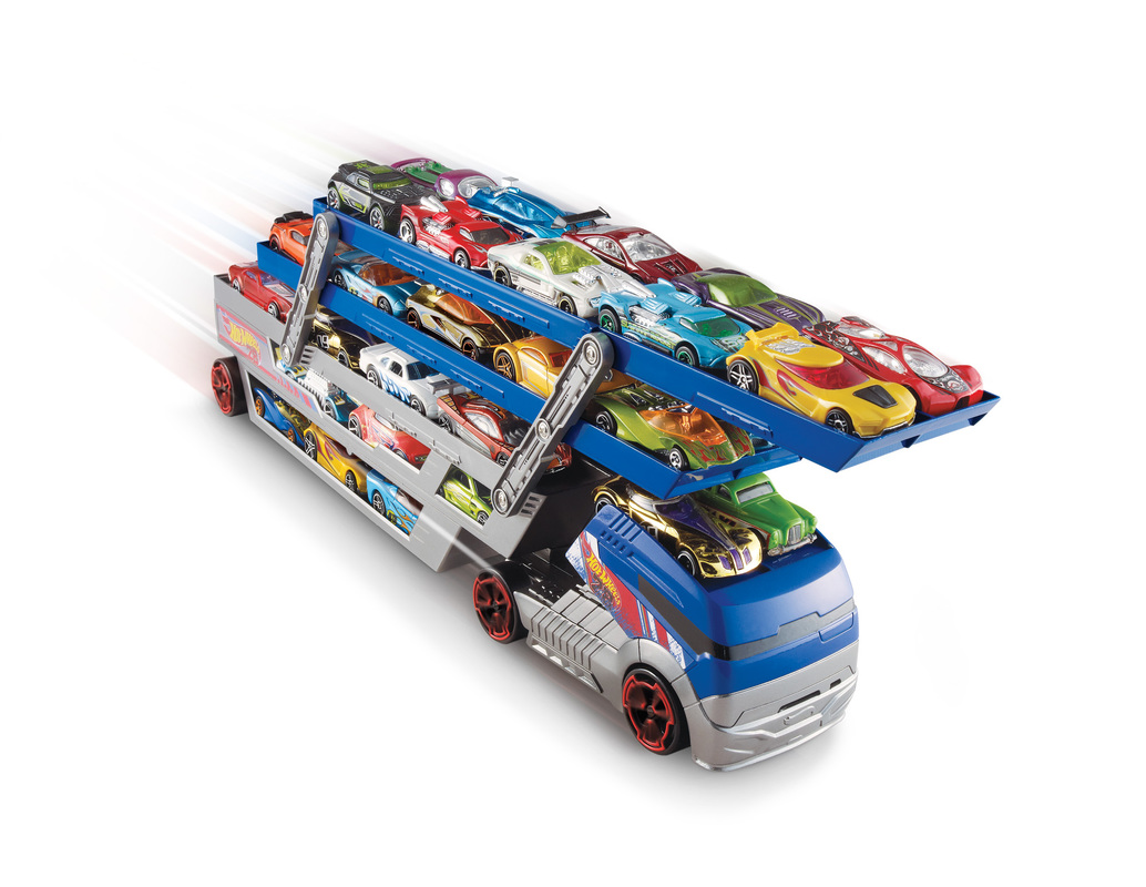 hot wheels turbo hauler truck shop hot wheels cars trucks race tracks hot wheels. Black Bedroom Furniture Sets. Home Design Ideas