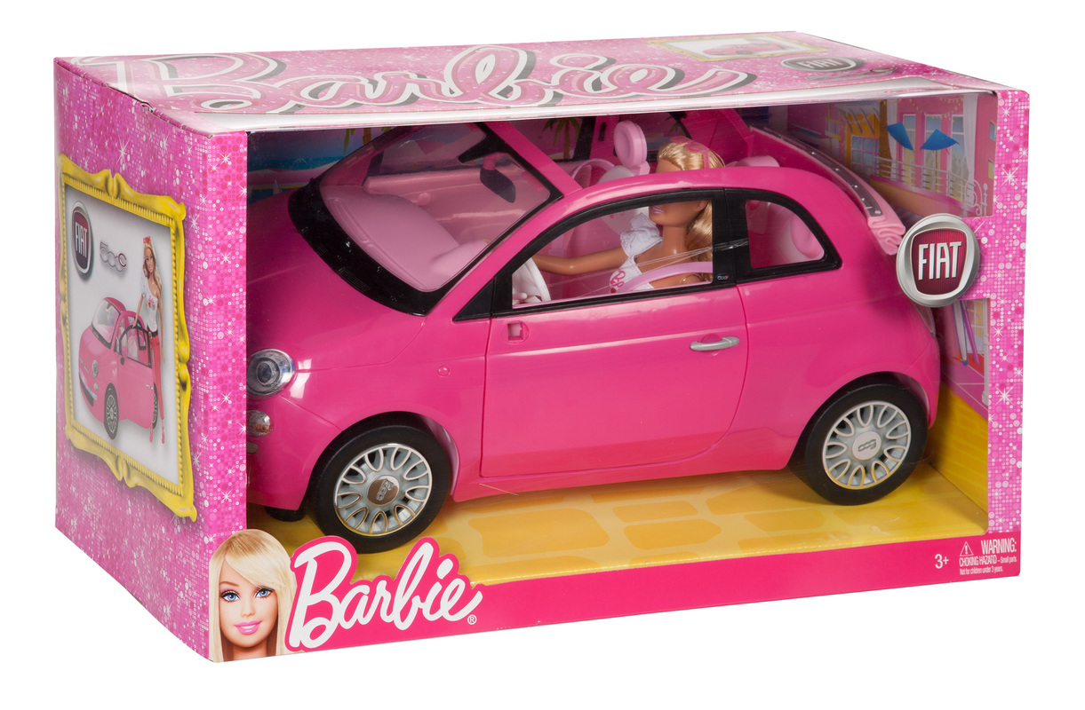 barbie doll and fiat convertible car. Black Bedroom Furniture Sets. Home Design Ideas
